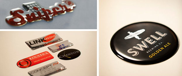 domed resin badges labels perth